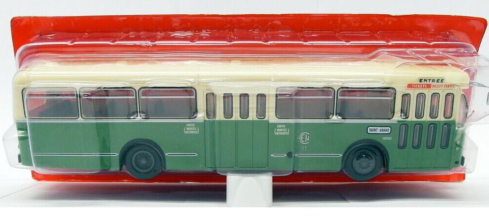 Miniatura Ônibus Brossel  BL 55 Valenciennes France 1966 1/43 Ixo Models Coleção Revista