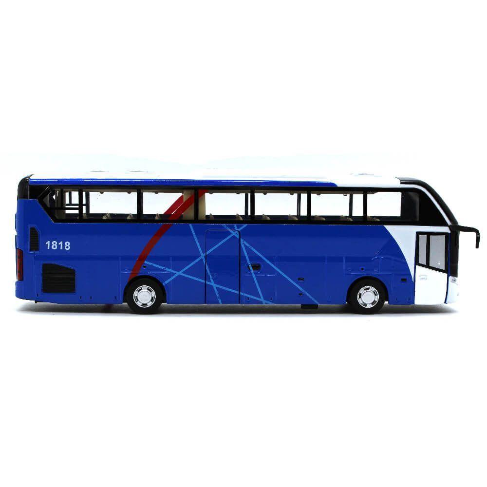 Miniatura Ônibus de Turismo Com Luz Som Fricção 1/32 Califórnia Action