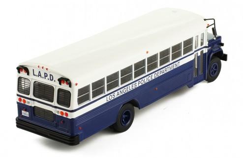 Miniatura Ônibus GMC 6000 Depto Polícia Los Angeles 1988 1/43 Ixo