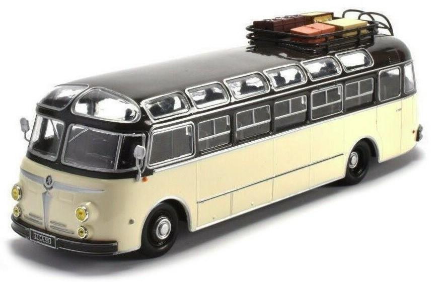 Miniatura Ônibus Isobloc 648DP Pullman France 1955 1/43  Ixo Models Coleção Revista