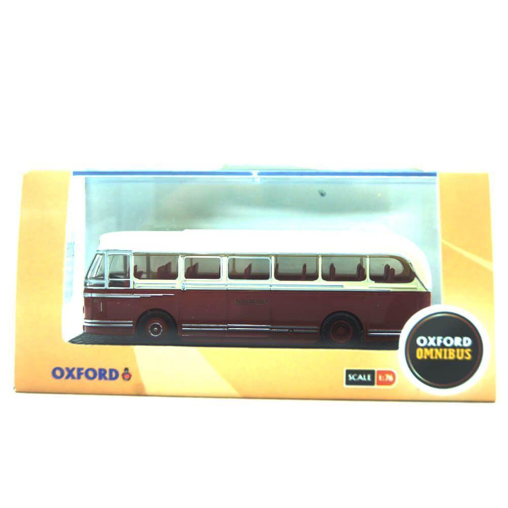 Miniatura Ônibus Leyland Royal Tiger Coach North Western 1/76 Oxford