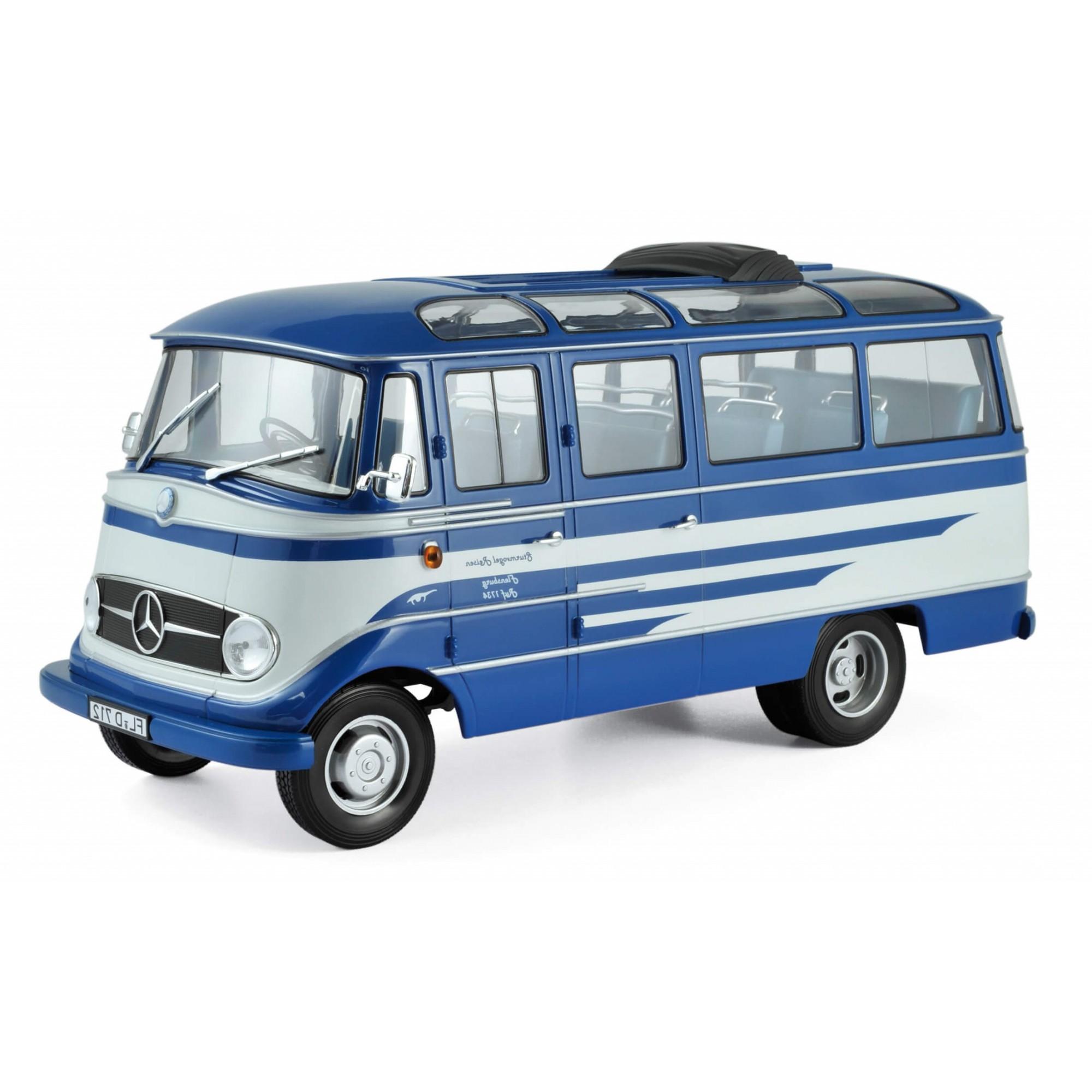 Miniatura Ônibus Mercedes Benz 0319 1960 1/18 Norev
