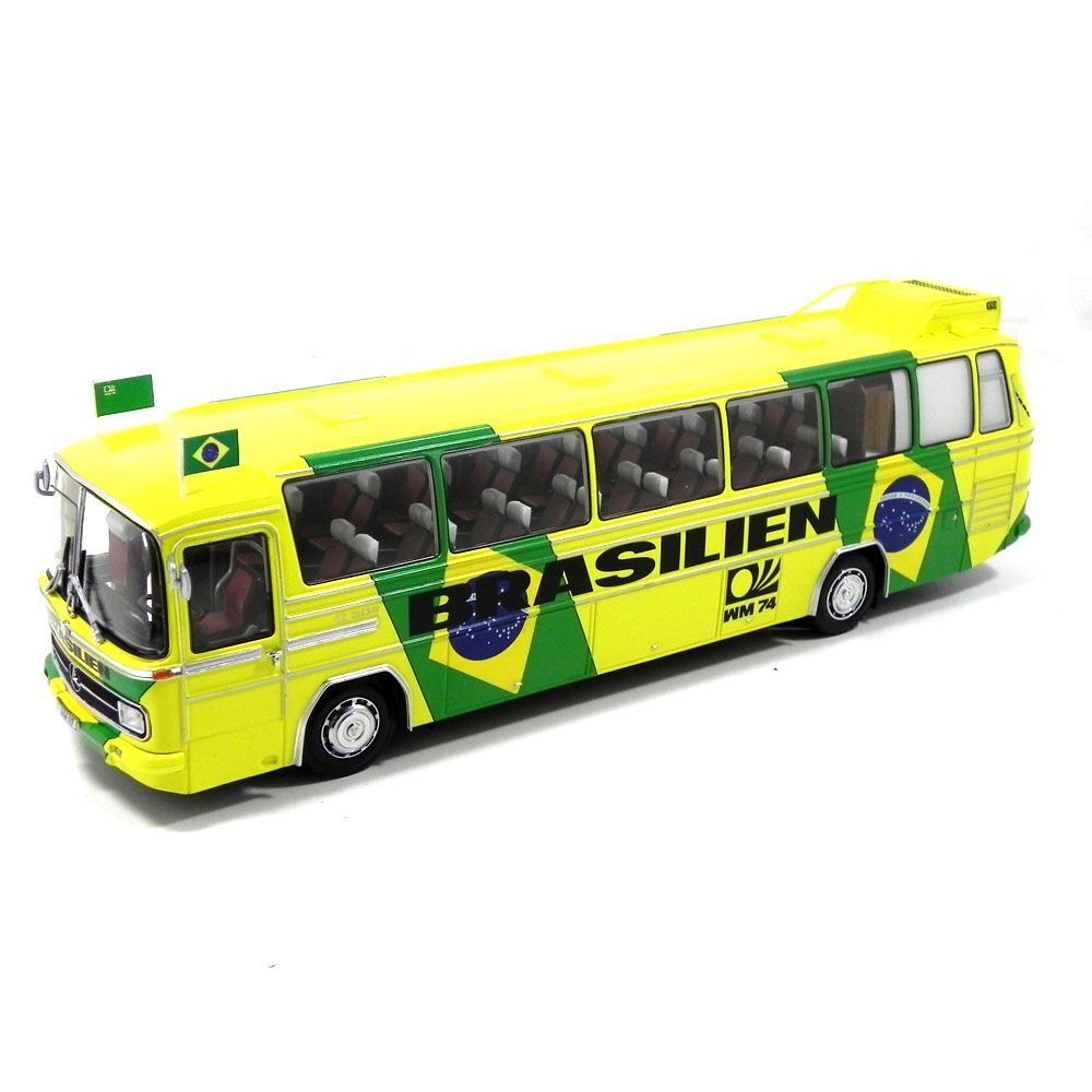 Miniatura Ônibus Mercedes-Benz O302 Sel Brasileira Copa 74 1/43 Minichamps