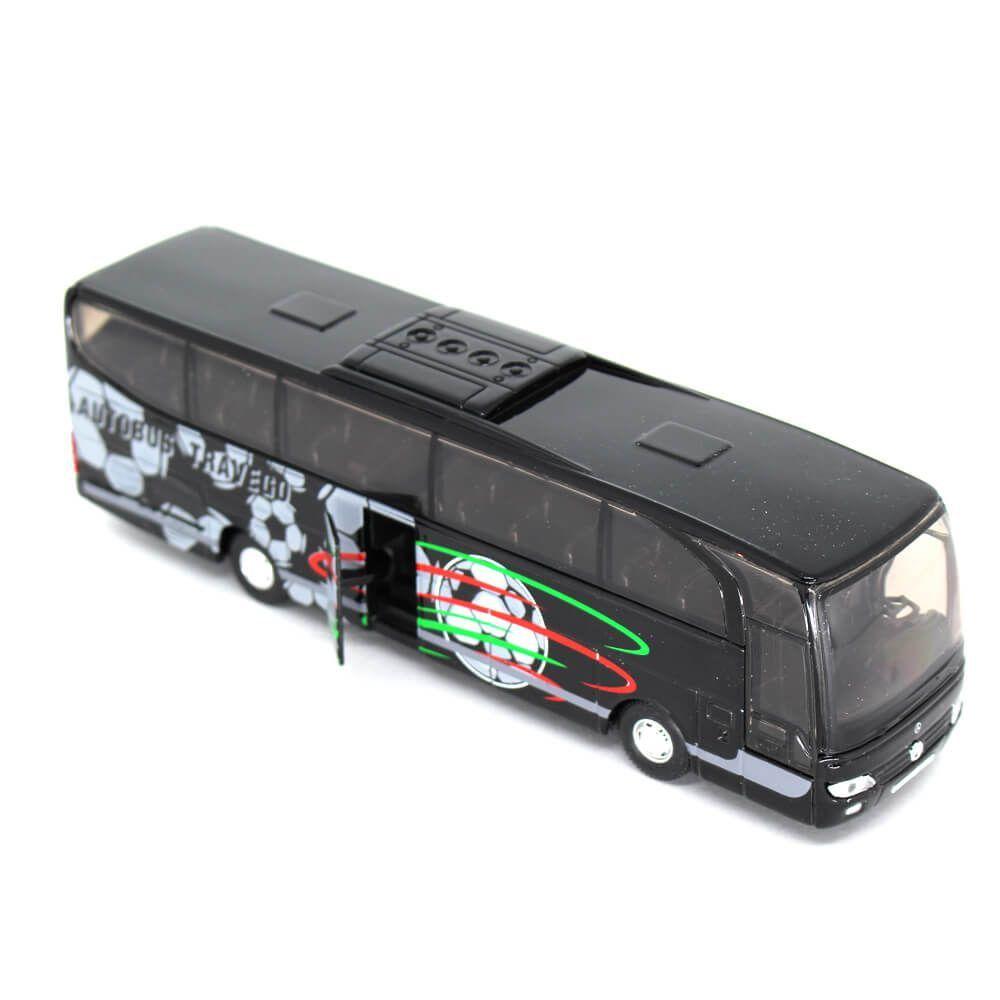 Miniatura Ônibus Mercedes Benz Travego Com Fricção 1/60 Welly