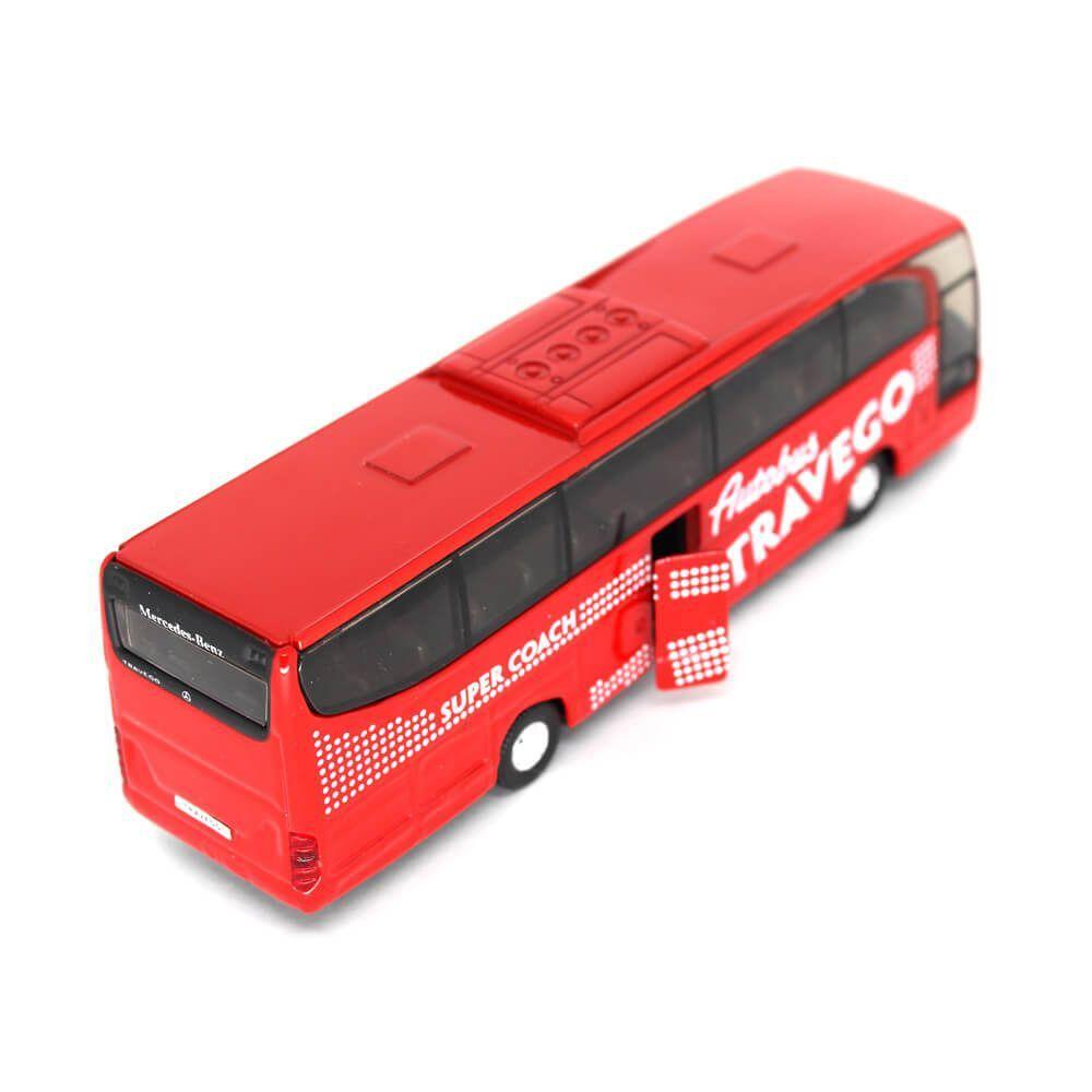 Miniatura Ônibus Mercedes Benz Travego Super Coach Com Fricção 1/60 Welly