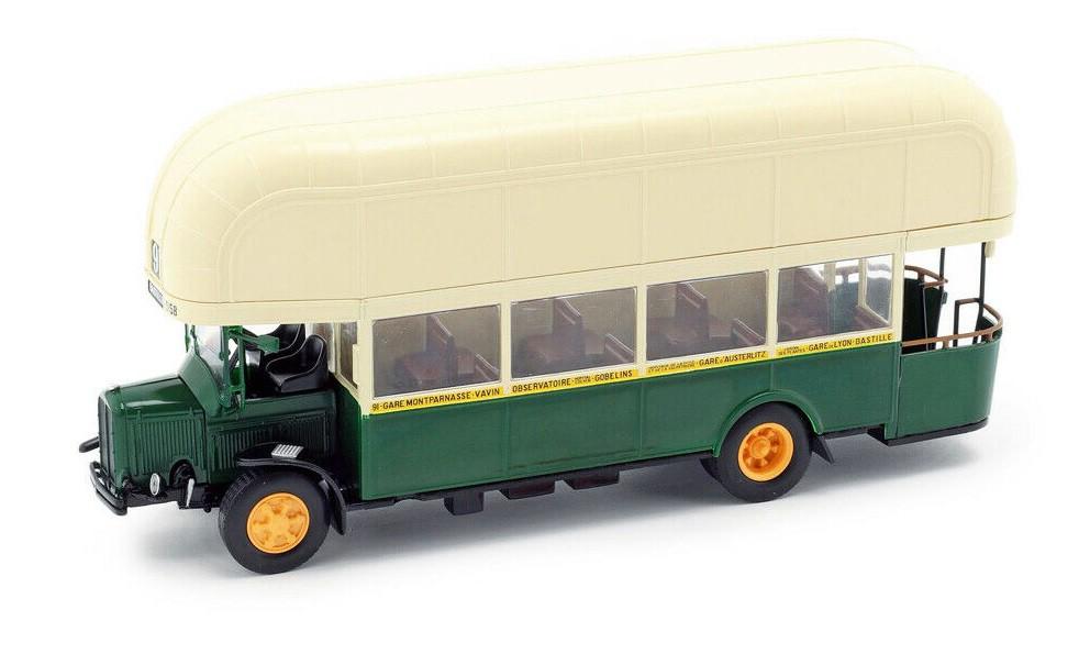 Miniatura Ônibus Renault TN4F France 1940 1/43 Ixo Models Coleção Revista