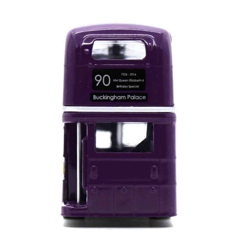 Miniatura Ônibus Routemaster 90 anos Rainha Elizabeth II 1/76 Corgi