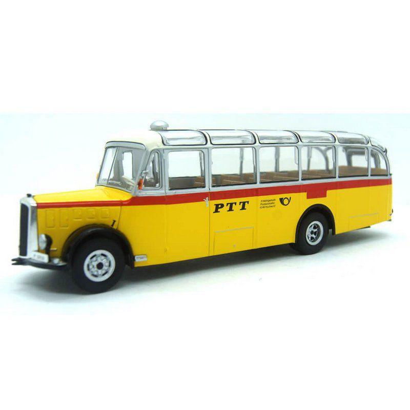 Miniatura Ônibus Saurer L4C Autobus Sonderfahrt 1959 1/43 Ixo