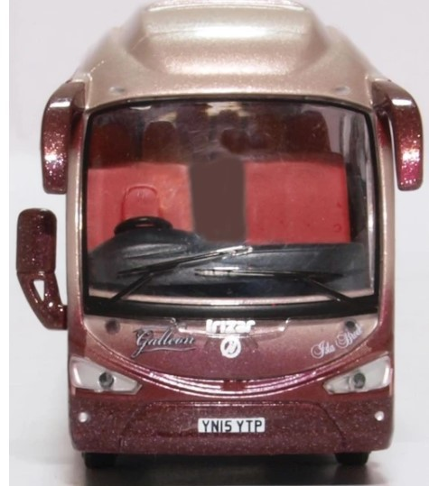 Miniatura Ônibus Scania Irizar i6 Galleon Travel 1/76 Oxford