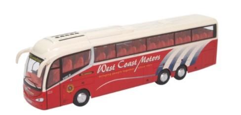 Miniatura Ônibus Scania Irizar i6 West Coast Motors 1/76 Oxford
