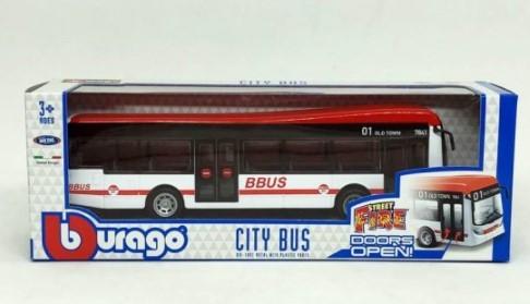 Miniatura Ônibus Vermelho Cidade 1/64-50 BBurago City