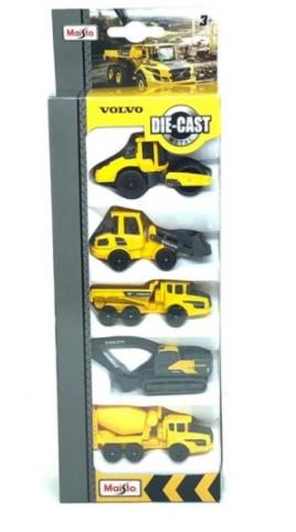 Miniatura Pack com 5 Trator Caminhão Volvo 1/64 Maisto