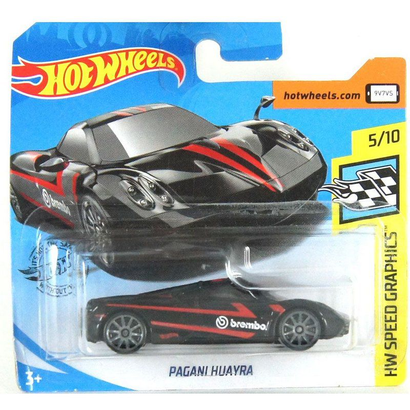 Miniatura Pagani Huayra HW Speed Graphics 1/64 Hot Wheels