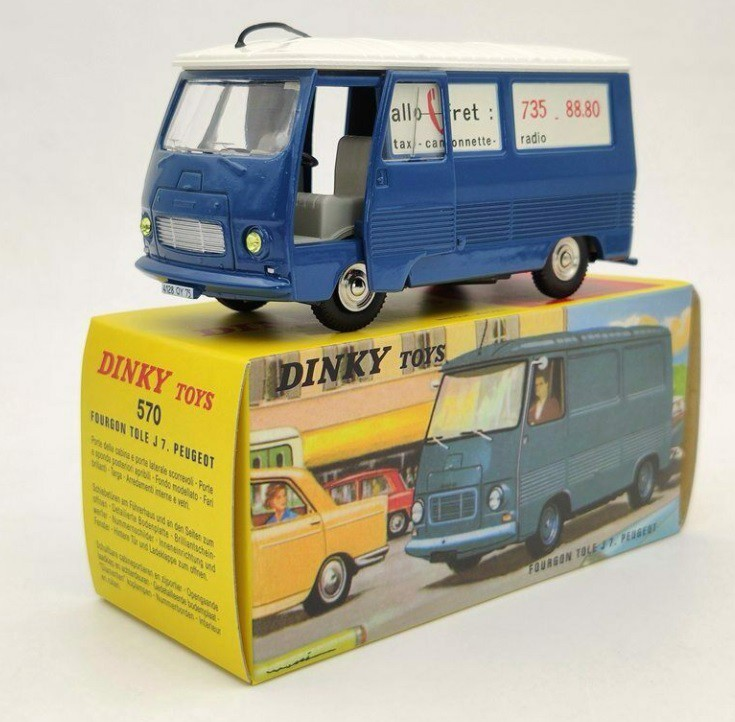 Miniatura Peugeot Furgão Tole J 7 1/43 Dinky Toys