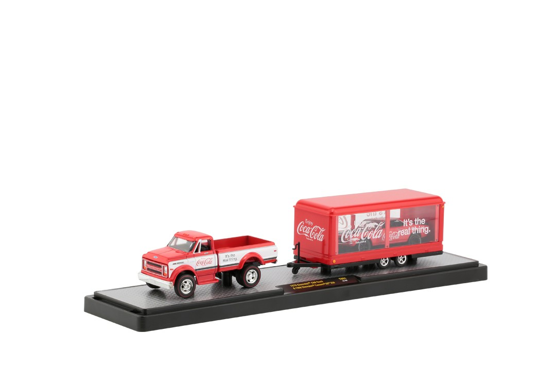 Miniatura Pick Up Chevrolet C60 1970 & Camaro 1968 SS 350 Coca Cola 1/64 M2