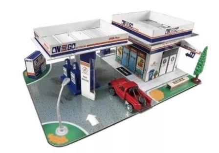Miniatura Pick Up Gas Station Build-n-Play 1/64 Maisto