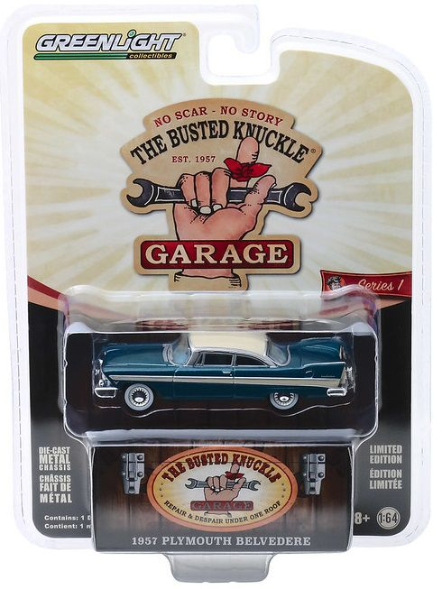 Miniatura Plymouth Belvedere 1957 1/64 Greenlight
