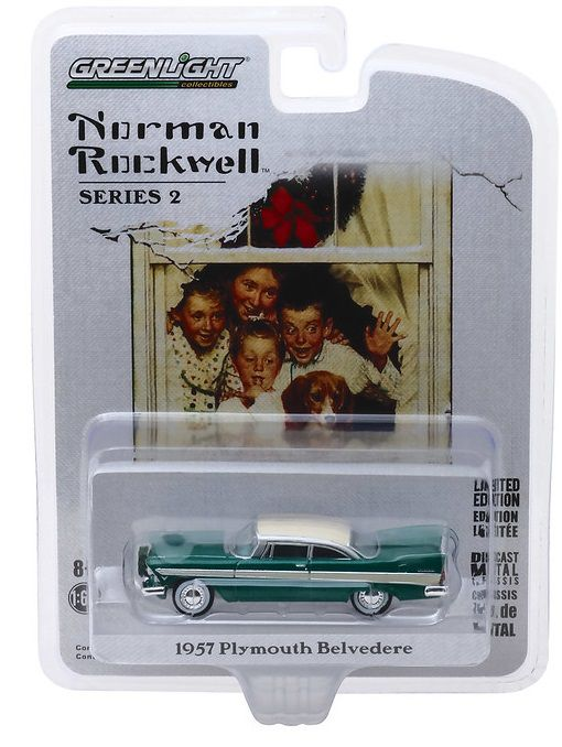 Miniatura Plymouth Belvedere 1957 com Guirlanda1/64 Greenlight