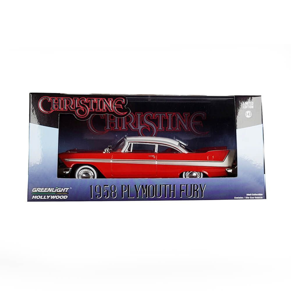 Miniatura Plymouth Fury 1958 Christine 1/43 Greenlight Hollywood