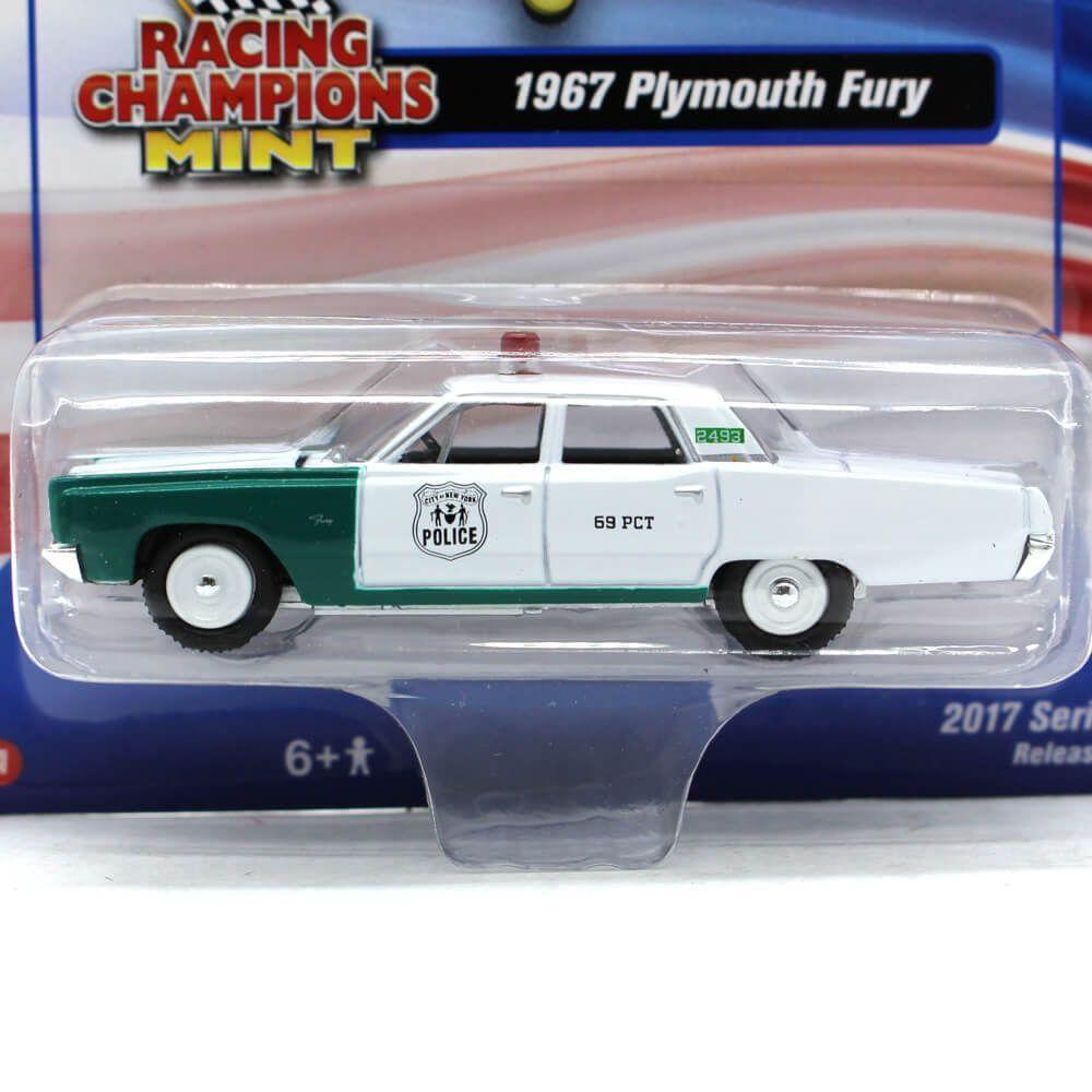 Miniatura Plymouth Fury 1967 New York Police C 1/64 Racing Champions