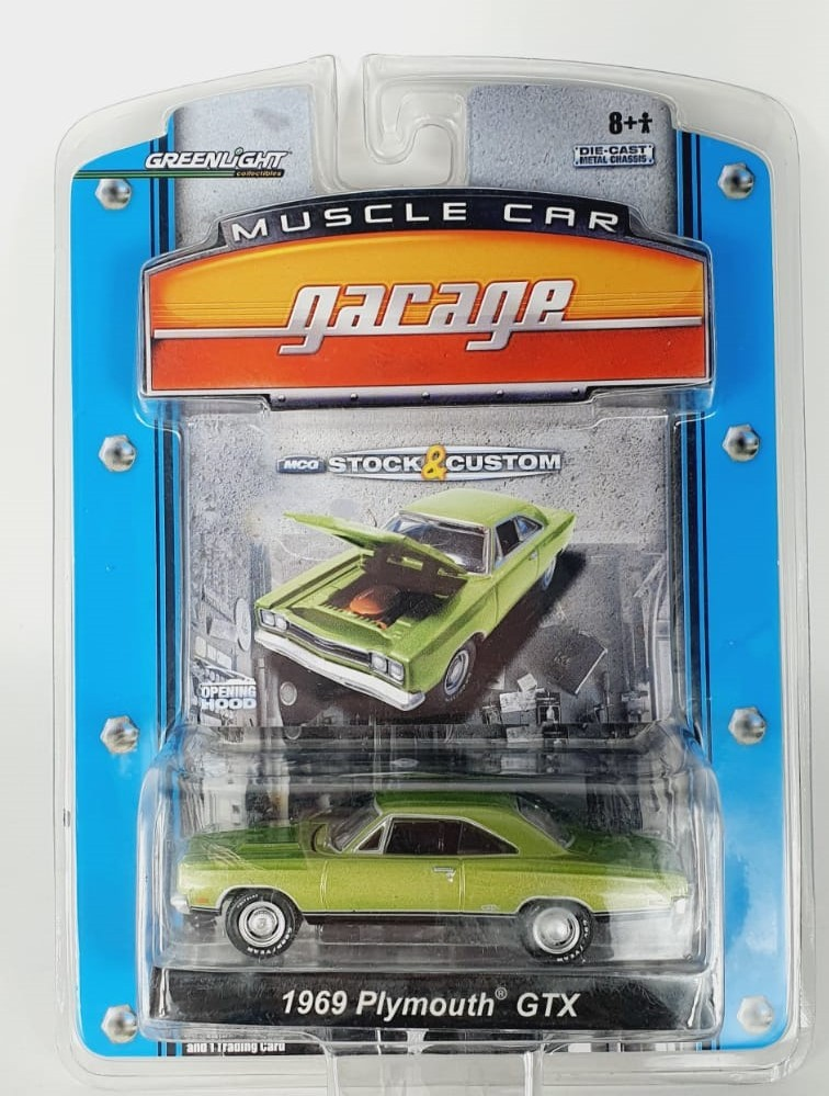 Miniatura Plymouth GTX 1969 1/64 Greenlight