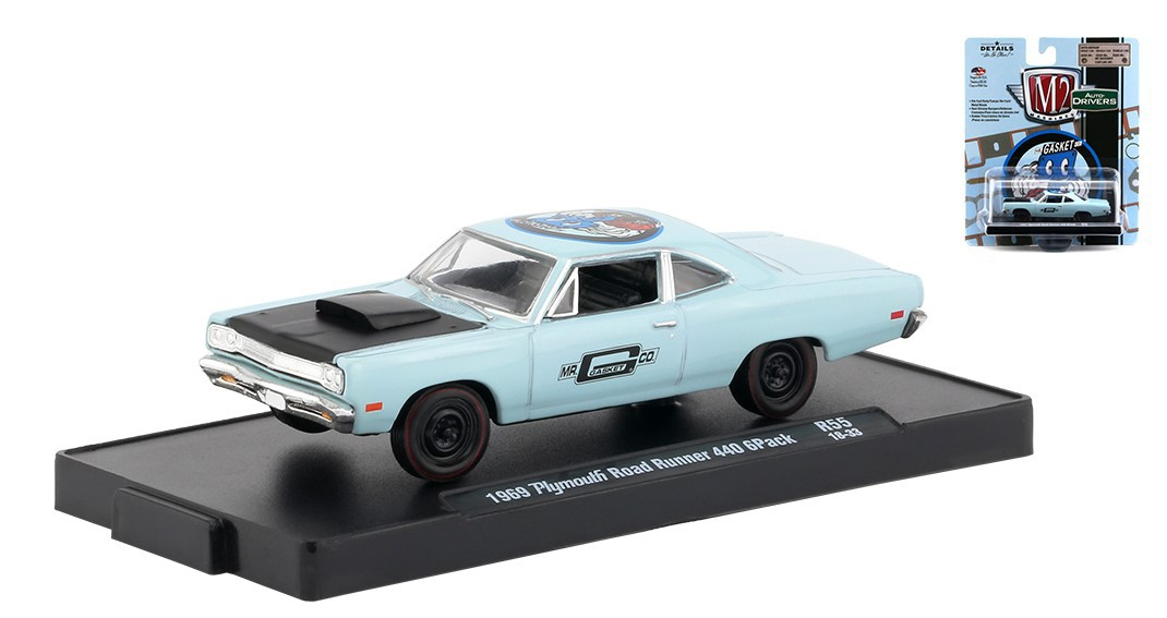 Miniatura Plymouth Road Runner 440 1969 1/64 M2