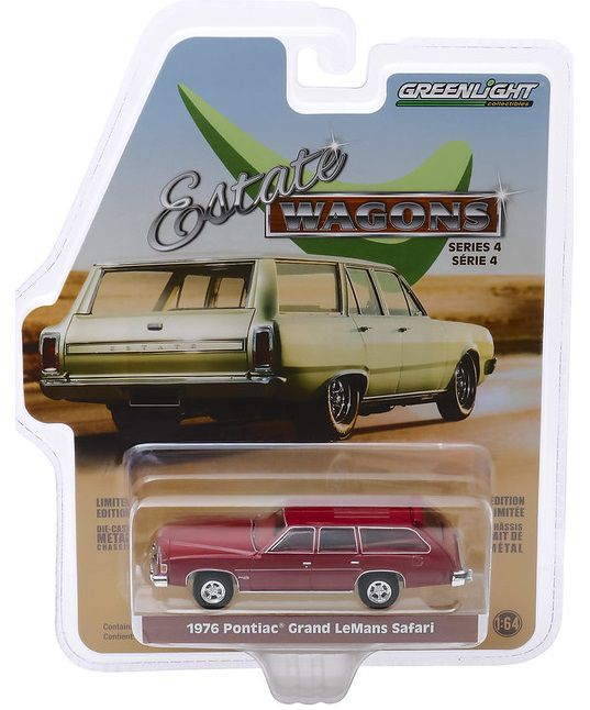 Miniatura Pontiac LeMans 1976 Estate Wagon 1/64 Greenlight