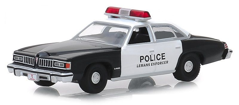 Miniatura Pontiac LeMans 1977 Policia Hot Pursuit 1/64 Greenlight
