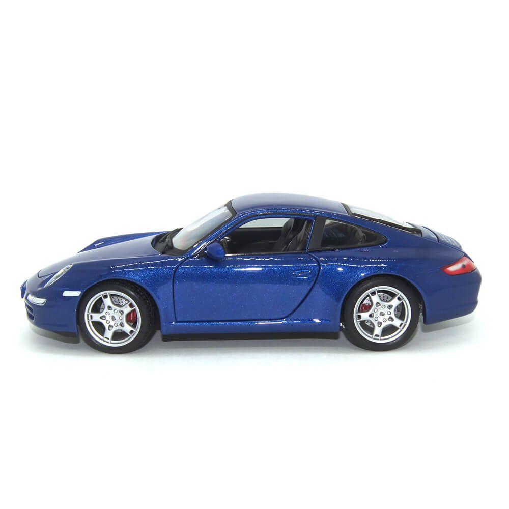 Miniatura Porsche 911 997 Carrera S Coupe 2005 Azul 1/18 Maisto Special Edition