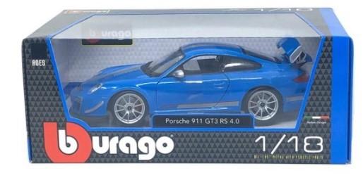 Miniatura Porsche 911 Gt3 Rs Azul 4.0 1/18 Bburago