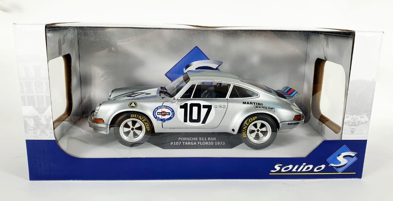 Miniatura Porsche 911 RSR #107 Targa Florio Martini 1/18 Solido