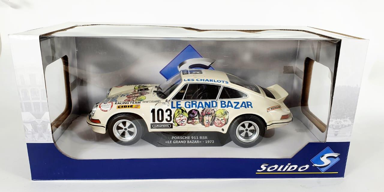 Miniatura Porsche 911 RSR Le Grand Bazar 1973 1/18 Solido
