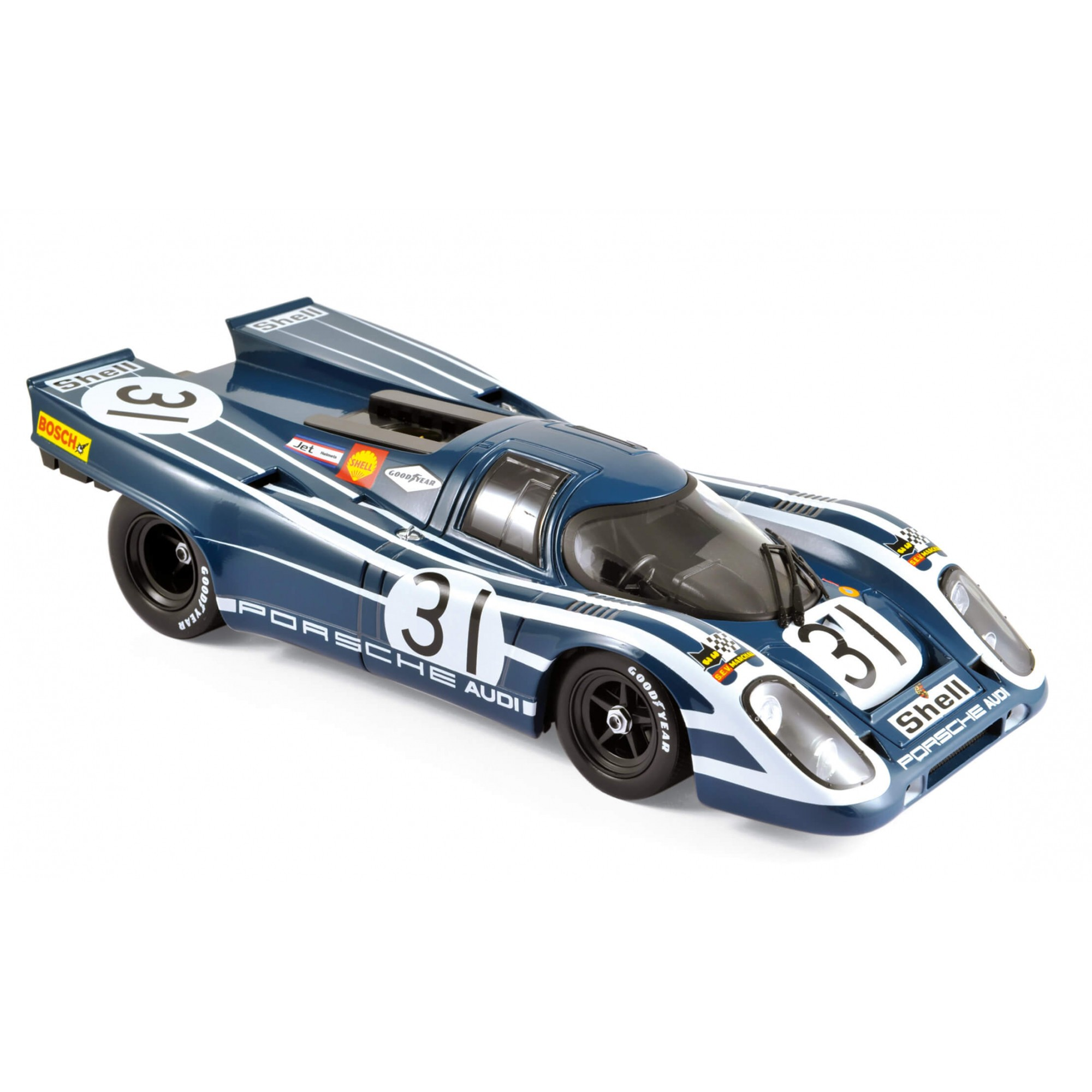 Miniatura Porsche 917K #31 - Whatkins Glen 6 Hours 1970 - 4Th Place 1/18 Norev