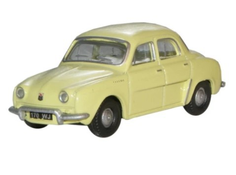Miniatura Renault Dauphine Yellow 1/76 Oxford