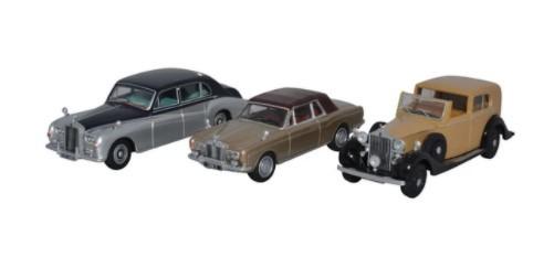Miniatura Rolls Royce Set 3 Pieces 1/76 Oxford