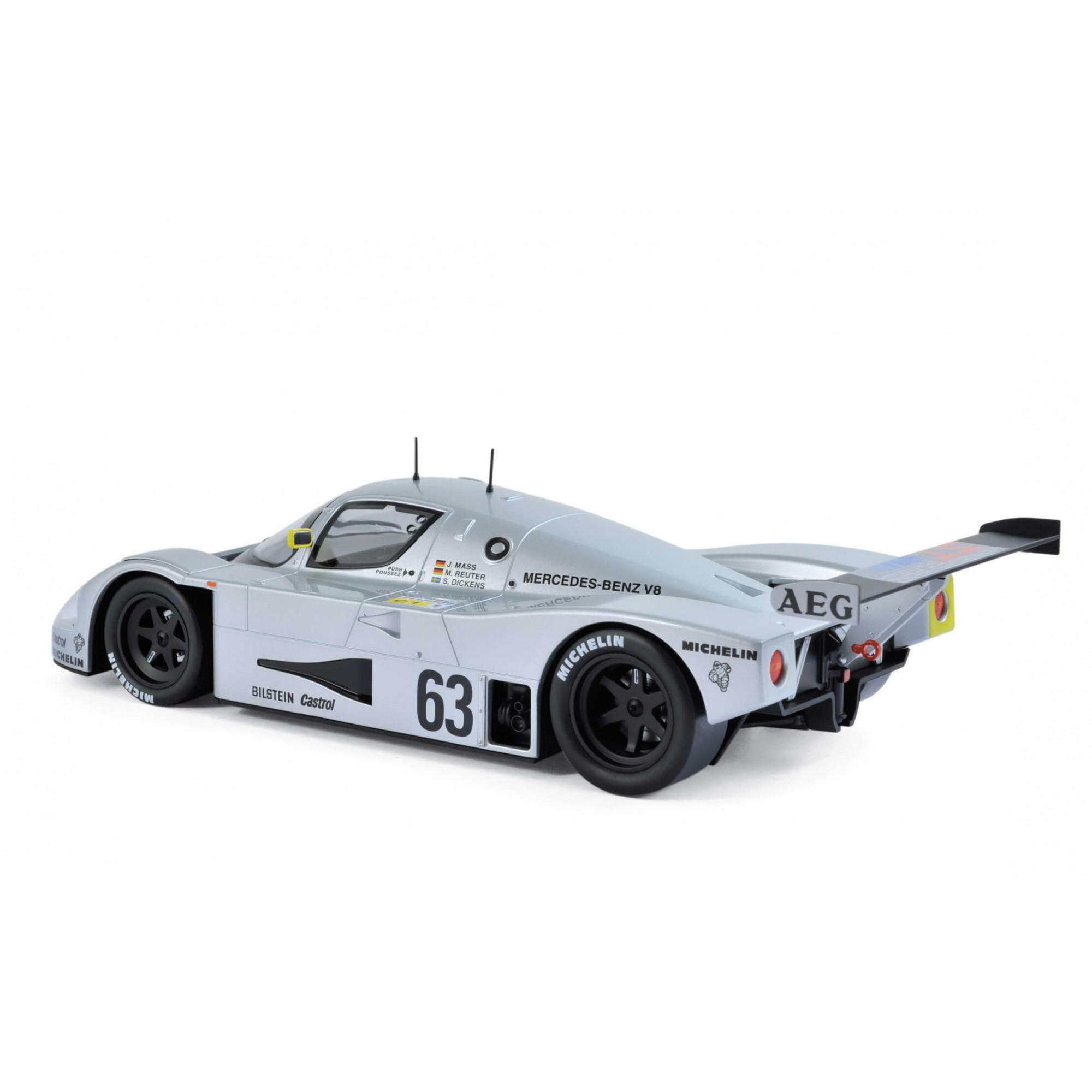 Miniatura Sauber-Mercedes C9 #63 (1989) Winner France 24h 1/18 Norev