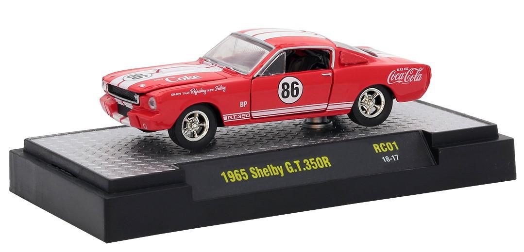 Miniatura Shelby G.T.350R 1965 Coca Cola Race Car 1/64 M2