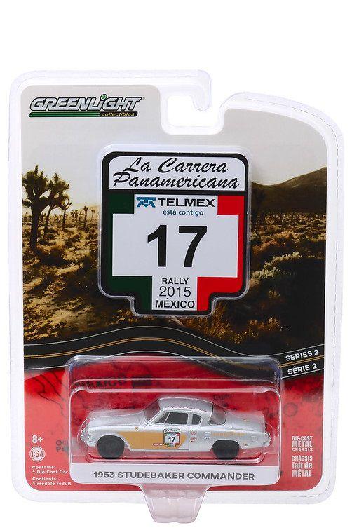 Miniatura Studebaker Commander 1953 #17 La Carrera Panamericana 2015 1/64 Greenlight