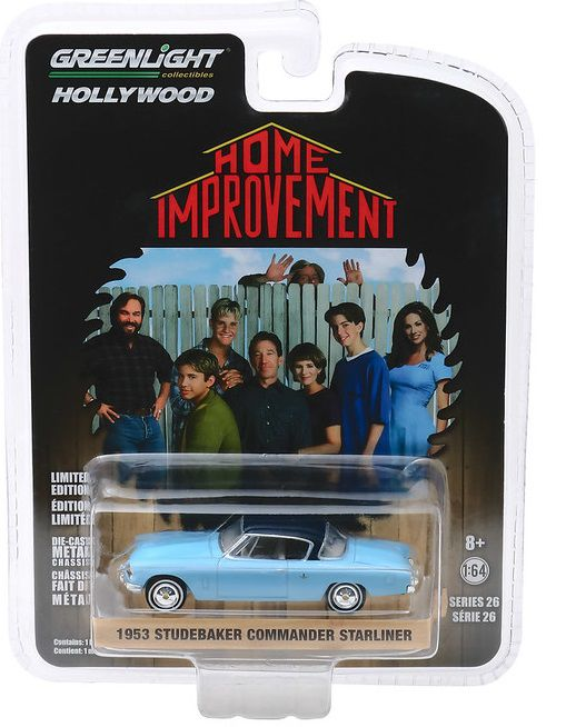 Miniatura Studebaker Commander 1953 Home Improvement 1/64 Greenlight