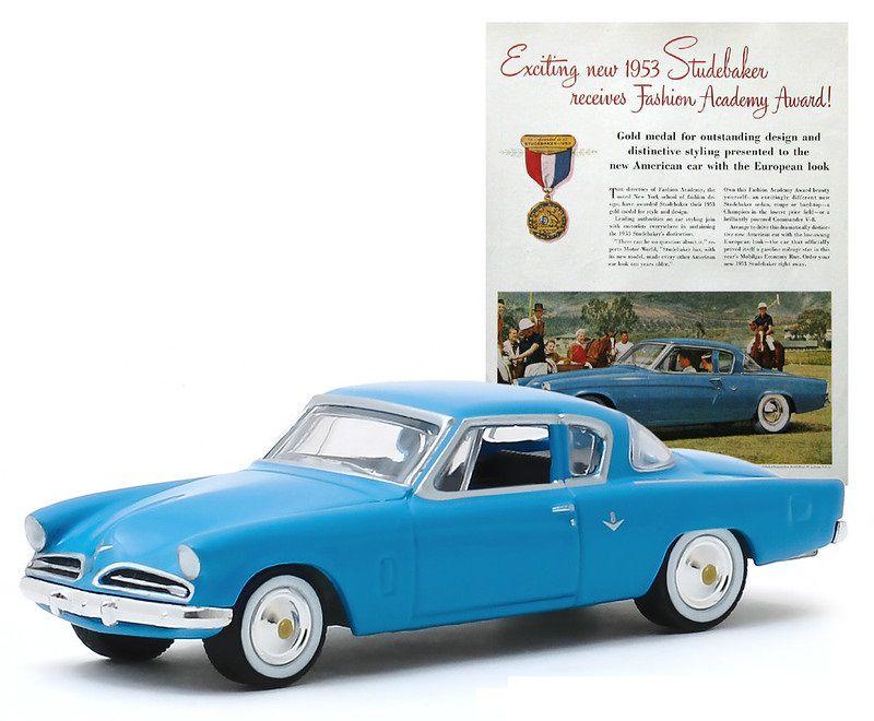 Miniatura Studebaker Commander 1953 Vintage Cars 1/64 Greenlight