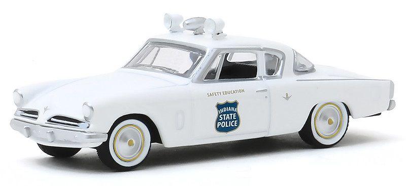 Miniatura Studebaker Commander Coupe 1953 Polícia Hot Pursuit 1/64 Greenlight