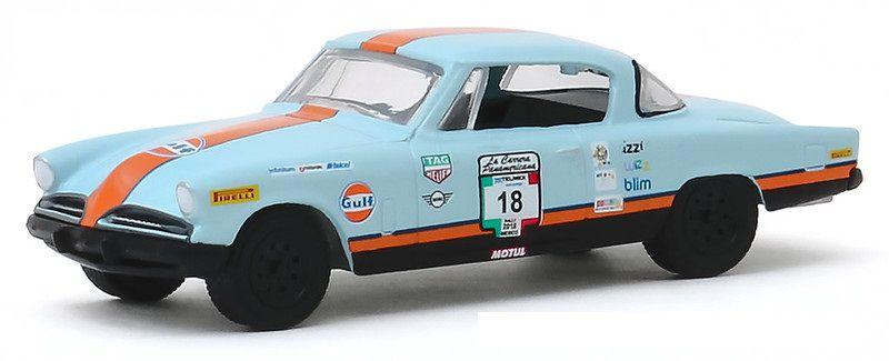 Miniatura Studebaker Gulf 1953 #18 La Carrera Panamericana 2018 1/64 Greenlight