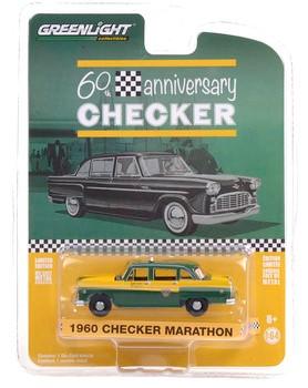 Miniatura Taxi Checker Marathon 1960 Anniversary Collection 1/64 Greenlight