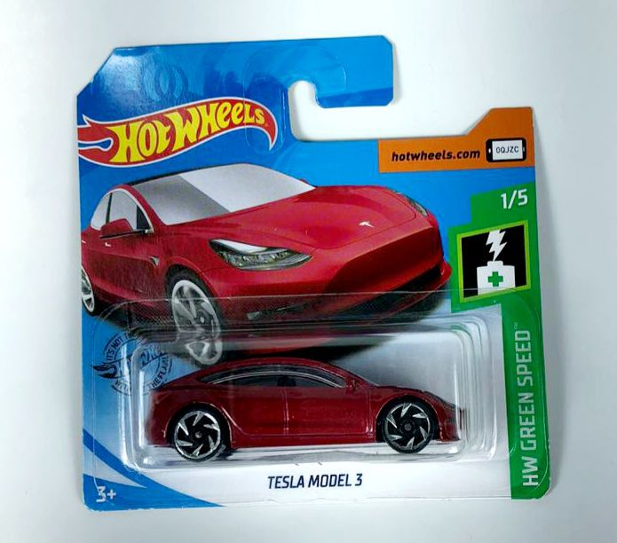 Miniatura Tesla Model 3 1/64 Hot Wheels