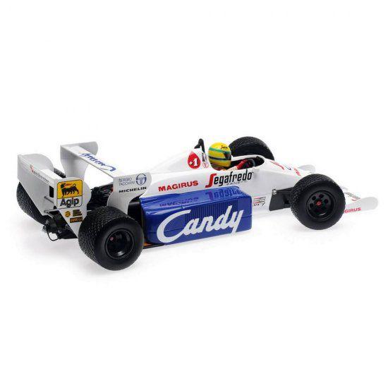 Miniatura Toleman Hart TG 184 Senna Monaco GP 1984 1/18 Minichamps