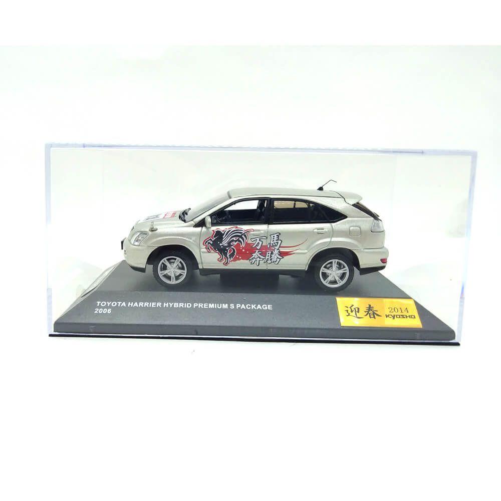 Miniatura Toyota Harrier Hybrid Premium S 2006 Edição Limitada 1/43 Kyosho