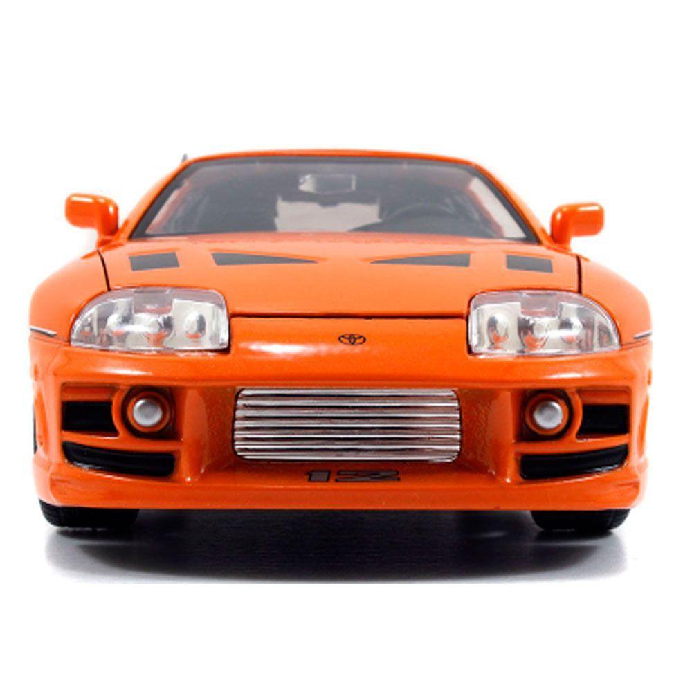 Miniatura Toyota Supra Velozes e Furiosos Brian com Boneco 1/24 Jada Toys
