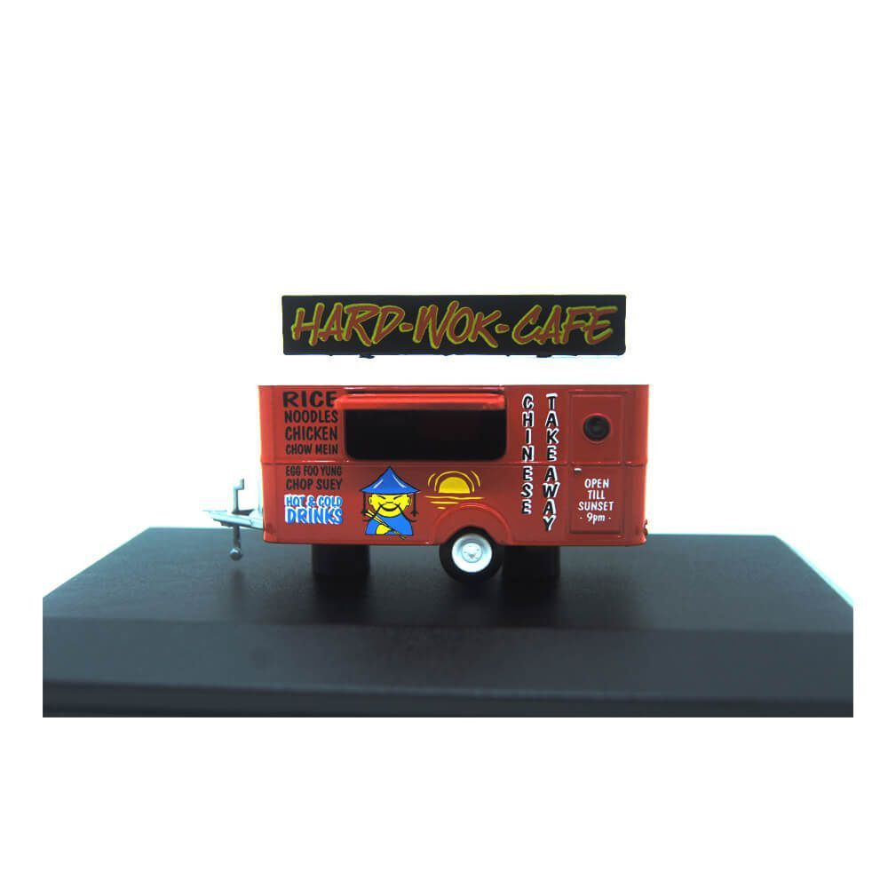 Miniatura Trailer Hard-Wok-Cafe 1/76 Oxford