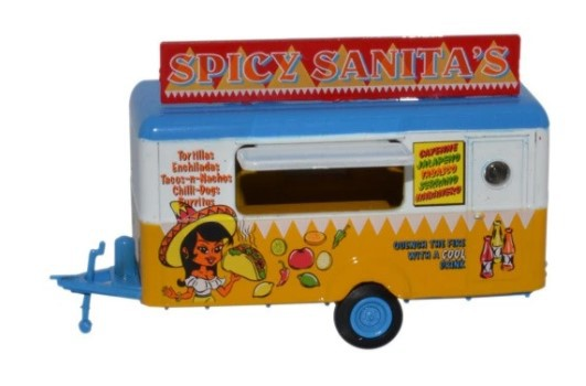 Miniatura Trailer Mobile Trailer Spicy Sanitas 1/76 Oxford