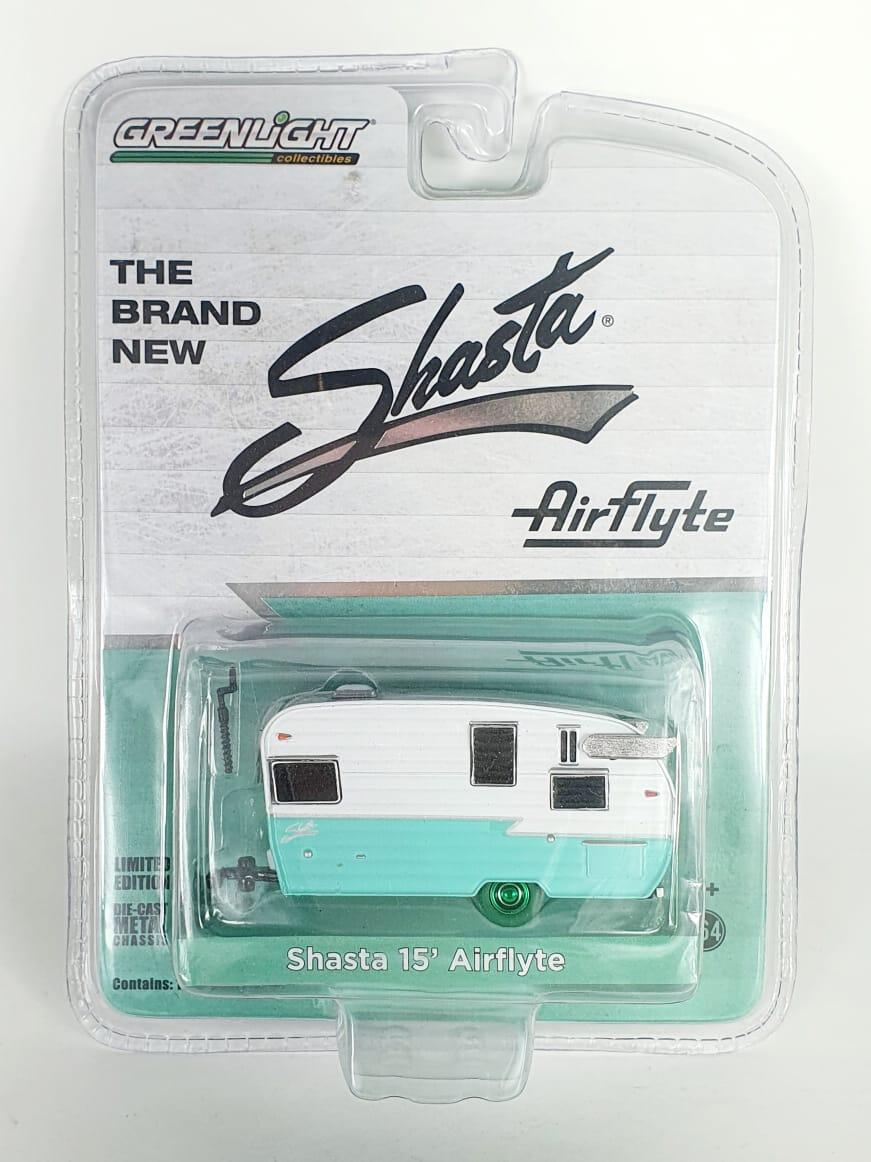 Miniatura Trailer Shasta 15 Airflyte Green Machine 1/64 Greenlight